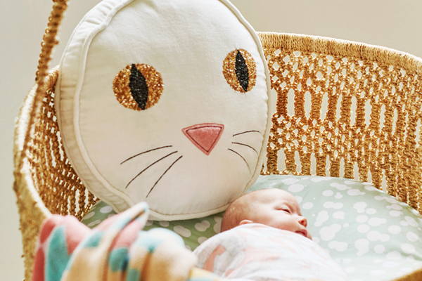 [ABODE] PUSS WHITE KIDS VELVET NOVELTY CUSHION