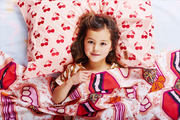 [ABODE] CHERRY PIE FOIL KIDS PILLOWCASE