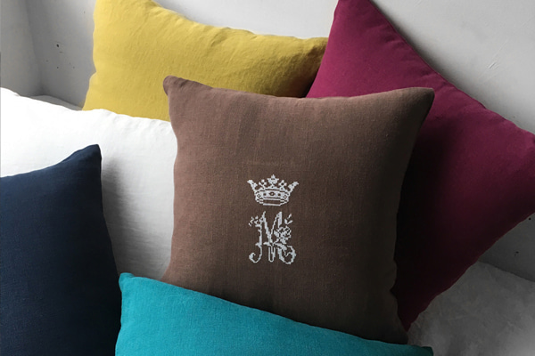 [AB FAB] VICTORIAN LINEN NATURAL CUSHION COVER (13 colors)