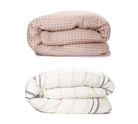 [ABODE] WAFFLE MORNING LINEN QUILT COVER (Q)