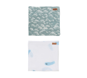 [ABODE] BOO & IN THE CLOUDS BABY NAP WRAPS (2 Pack)