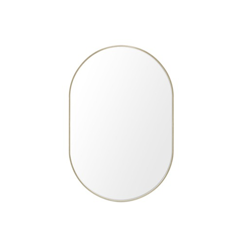 Mirror - gold oval